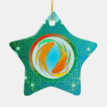 Ornamento Piscis de la muestra de la estrella Ornaments Para Arbol De Navidad