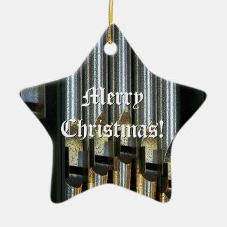 Ornamento plateado del navidad de los tubos de adorno navideño de cerámica en forma de estrella