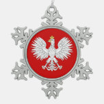 Ornamento polaco del copo de nieve del estaño de E