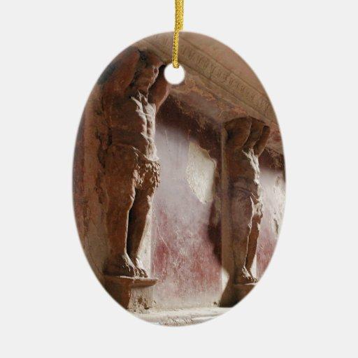 Ornamento - Pompeya Adorno Navideño Ovalado De Cerámica