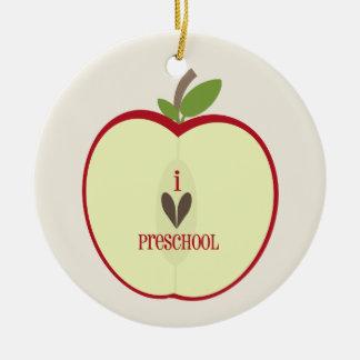 Ornamento preescolar del profesor - Apple rojo med Ornamento Para Arbol De Navidad