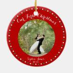 Ornamento primero casado blanco rojo del navidad adorno