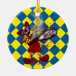 Ornamento psico adorno navideño redondo de cerámica