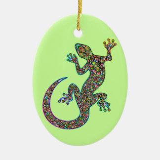 Ornamento psicodélico del diseño del Gecko de Geck Ornaments Para Arbol De Navidad