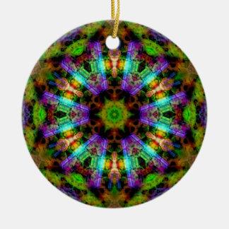 Ornamento psicodélico luminoso de la mandala adorno de navidad