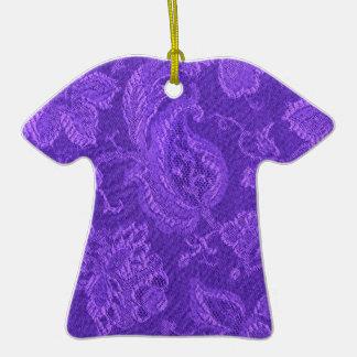 Ornamento púrpura Amethyst de la camiseta del Ornamento Para Reyes Magos