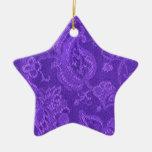 Ornamento púrpura Amethyst floral de la estrella Ornaments Para Arbol De Navidad
