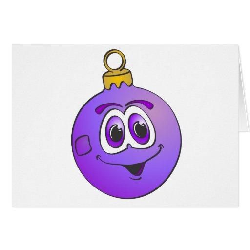 Ornamento púrpura Cartoon.png del navidad Tarjeta