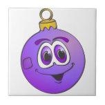 Ornamento púrpura Cartoon.png del navidad Tejas
