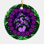 Ornamento púrpura de cinco setas adorno de reyes