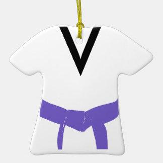 Ornamento púrpura de encargo del uniforme de la co ornamento para arbol de navidad