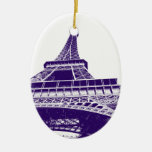 Ornamento púrpura de la torre Eiffel Ornamentos De Reyes Magos
