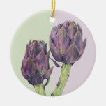 Ornamento púrpura de las alcachofas adornos