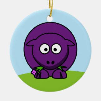 Ornamento púrpura de las ovejas ornamento de navidad
