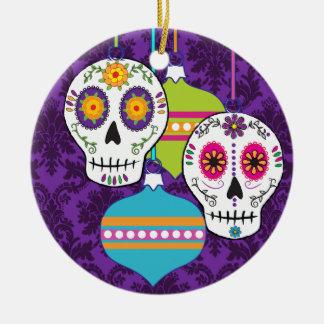 Ornamento púrpura de los cráneos ornamentos para reyes magos