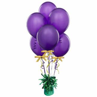 Ornamento púrpura de los globos adorno fotoescultura