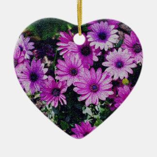 Ornamento púrpura del arte de la flor de las marga adornos de navidad
