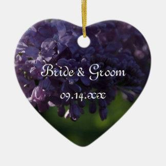 Ornamento púrpura del boda de la lila ornamento para reyes magos
