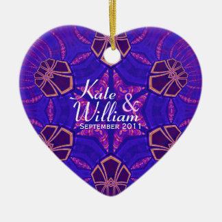 Ornamento púrpura del boda de la tarjeta del día ornamentos de reyes magos