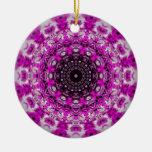 Ornamento púrpura del caleidoscopio ornamentos para reyes magos