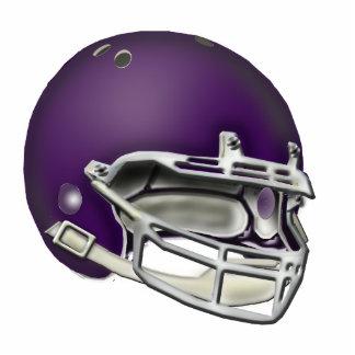 Ornamento púrpura del casco de fútbol americano de adorno fotoescultura