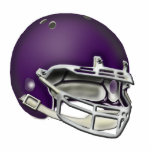 Ornamento púrpura del casco de fútbol americano de escultura fotografica