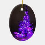Ornamento púrpura del navidad del árbol adorno de navidad