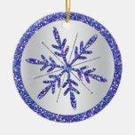 Ornamento púrpura del recuerdo de la foto del boda adornos de navidad