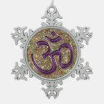 Ornamento púrpura místico del copo de nieve del br adorno
