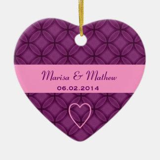 Ornamento púrpura P235 del favor del boda del dama Adorno