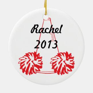 Ornamento que anima rojo de encargo ornamento para arbol de navidad