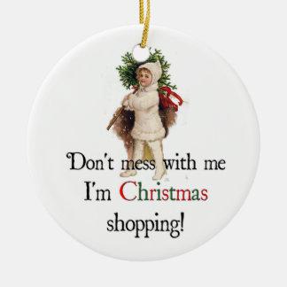Ornamento que hace compras del navidad (imagen) ornamento de reyes magos