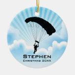 Ornamento que se lanza en paracaídas personalizado ornamento de navidad
