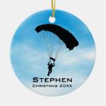 Ornamento que se lanza en paracaídas personalizado ornato
