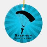 Ornamento que se lanza en paracaídas personalizado adorno de reyes