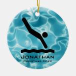 Ornamento que se zambulle personalizado ornamento para arbol de navidad