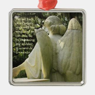 Ornamento quebrado del ángel del ala ornamento para arbol de navidad