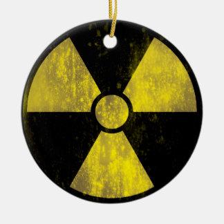 Ornamento radiactivo de la señal de peligro de adorno redondo de cerámica