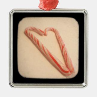 Ornamento rayado del corazón TTV Ornamento Para Reyes Magos