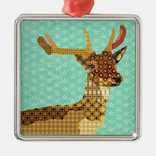 Ornamento real de la turquesa del reno adorno para reyes