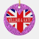 Ornamento real del boda de Guillermo y de Kate Ornato