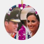 Ornamento real del boda de Guillermo y de Kate Ornamento Para Arbol De Navidad