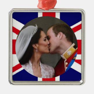 Ornamento real del boda de Guillermo y de Kate Adornos
