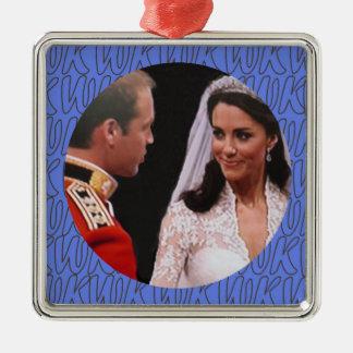 Ornamento real del boda de Guillermo y de Kate Ornamentos Para Reyes Magos