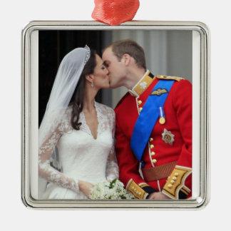 Ornamento real del boda adorno de navidad