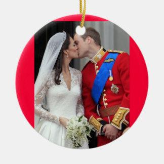 Ornamento real del navidad del beso del boda ornamentos para reyes magos
