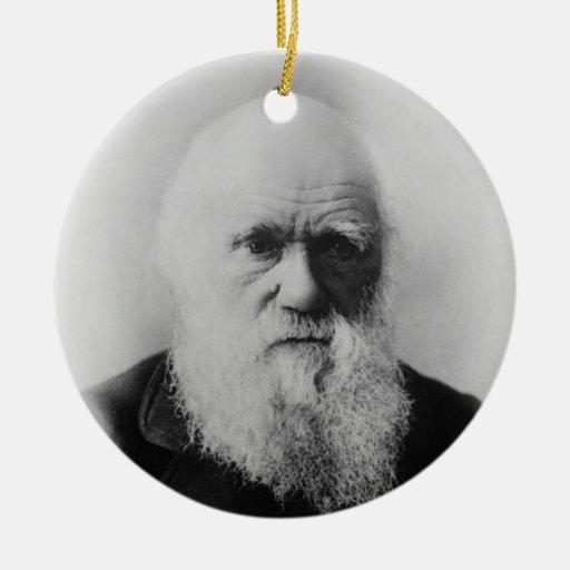 Ornamento redondo de Charles Darwin 2 del átomo Adorno Navideño Redondo De Cerámica