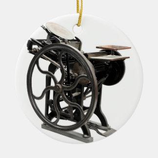 ornamento redondo de la máquina de la prensa de adorno navideño redondo de cerámica