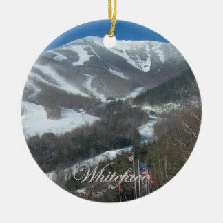 Ornamento redondo de la montaña de Whiteface Adorno Navideño Redondo De Cerámica