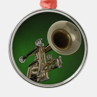 Ornamento redondo de la trompeta ornamento de reyes magos